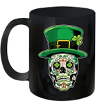 Sugar Skull Saint Patrick's Day Of Dead Mug