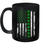St Patrick's Day Irish American Flag Mug