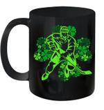 St Patrick's Day Hockey Irish Boys Saint Paddys Shamrock Mug
