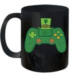 St Patricks Day Gamer Mug Irish Game Controller Gaming Boy