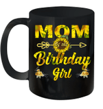 Mom Of The Birthday Girl Sunflower Funny Mug