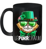 Lepurrchaun St Patrick's Day Cat Leprechaun Shamrock Mug