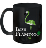 Funky Irish Flamingo Green Bird St Patricks Day Mug