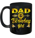 Dad Of The Birthday Girl Sunflower Funny Mug