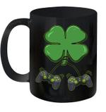 Clover Video Game Controllers St Patricks Day Boys Girl Kids Mug