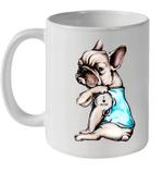 Pug Dog Tattoo I Love Mom Funny Mug