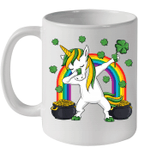 Dabbing Unicorn St Patricks Day Irish Dab Girls Kids Mug