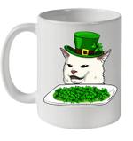 Cat Meme Yelling St Patricks Day Irish Cat Love Mug