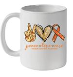 Peace Love Cure Multiple Sclerosis Awareness Mug