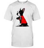Boston Terrier I Love Mom Tattoo Shirt