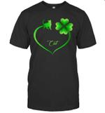 Cat Irish Shamrock St Patrick's Day Heart Shirt