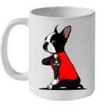 Boston Terrier I Love Mom Tattoo Mug