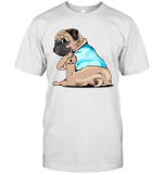 Tattoos Pug I Love Mom Funny Shirt