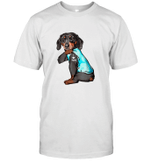 Dachshund Tattoo I Love Mom Funny Shirt
