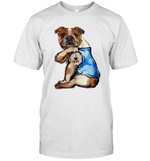 Bulldog Tattoo I Love Mom Funny Shirt