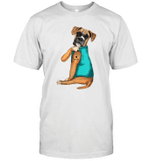 Boxer Tattoo I Love Mom Gift Mothers Day Shirt