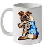Bulldog Tattoo I Love Mom Funny Mug