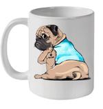 Tattoos Pug I Love Mom Funny Mug