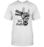 Hair Stylist Hairdresser Hair Hustler Tattoos Funny Shirt