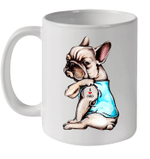 Funny Bulldog Tattoo I Love Dad Gift Father's Day Mug