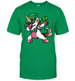 St Patrick's Day Dabbing Unicorn Lepricorn Shirt Irish Girls Shirt