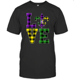 I Love Mardi Gras Buffalo Plaid Gift For Men's Women's Shirt