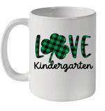 St Patrick's Day Gift Kindergarten Teacher Plaid Shamrock Mug