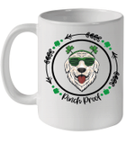 Golden Retriever Irish Creme Shamrock Dog St Patrick's Day Mug