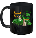Loads Of Luck Truck Golden Retriever St Patrick's Day Mug