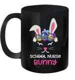 School Nurse Bunny Face Egg Costume Easter Day Gift Mug