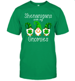 Shenanigans With My Gnomies Shamrock Clover St Patrick's Shirt