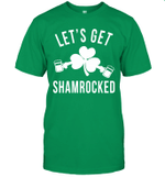 Let's Get Shamrocked St Patrick's Day Leaf Clover Beer Shirt