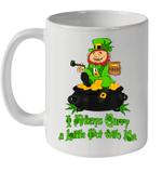 Stoner Saint Patricks Day Weed Mug I Always Carry A Little Pot With Me Coffee Mug