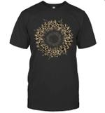 Cool Cheetah Leopard Print Sunflower Gift Shirt