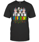 Unicorn Gift It's Ok To Be Different Autism Awareness Shirt