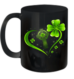 Celtic Cross And Irish Four Leaf Clover St Patrack's Day Mug