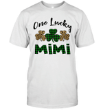 Funny One Lucky Mimi Leopard Plaid St Patrick's Day Gift Shirt