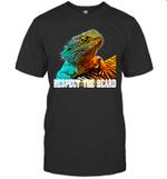Respect The Beard Funny Bearded Dragon Shirt