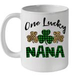 Funny One Lucky NaNa Leopard Plaid St Patrick's Day Gift Mug