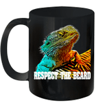 Respect The Beard Funny Bearded Dragon Mug