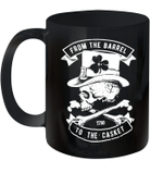 From The Barrel To The Casket St Patrick's Day Vintage Mug