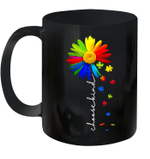 Choose Kind Autism Awareness Daisy Flower Warrior Mug