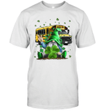 Green Gnomes Bus School Driver And Shamrock St Patrick's Day Shirt