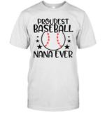 Baseball Grandma Proud Baseball Nana Family Game Day Shirt