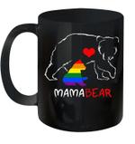 Lgbt Mom Mama Bear Mug Mother's Day Gift Rainbow Coffee Mug