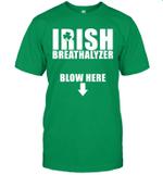 Irish Breathalyzer Blow Here St Patrick's Day Funny Shirt