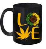 Love Weed Sunflower Cannabis Funny Graphic Mug