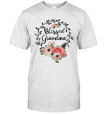 Blessed Grandma Shirt With Floral Heart Mother's Day Gift Shirt