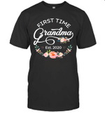 Promoted to Grandma Est 2020 Floral Shirt