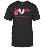 Peace Love Flamingo Gift Shirt